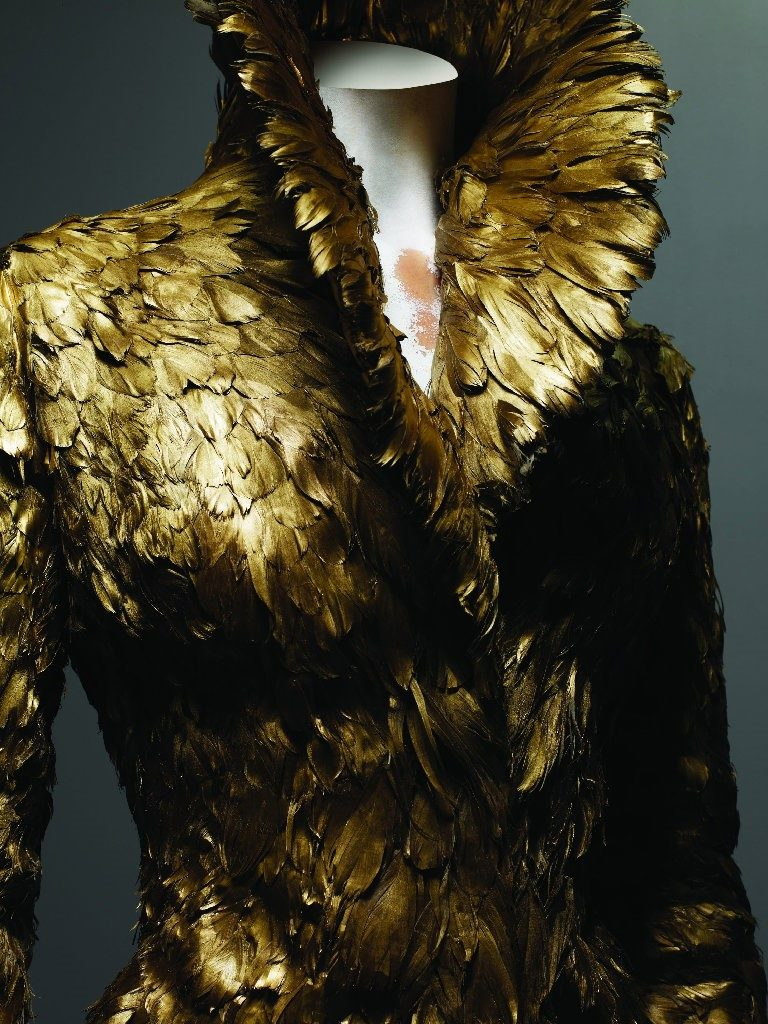 Alexander McQueen, Angels and Demons collection, F/W 2010-1, coat of gold feathers, Source: The Metropolitan Museum of Art, New York, USA.