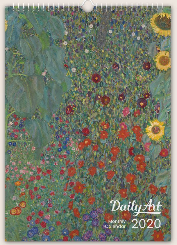 Daily Art, Masterpieces Monthly Wall Calendar