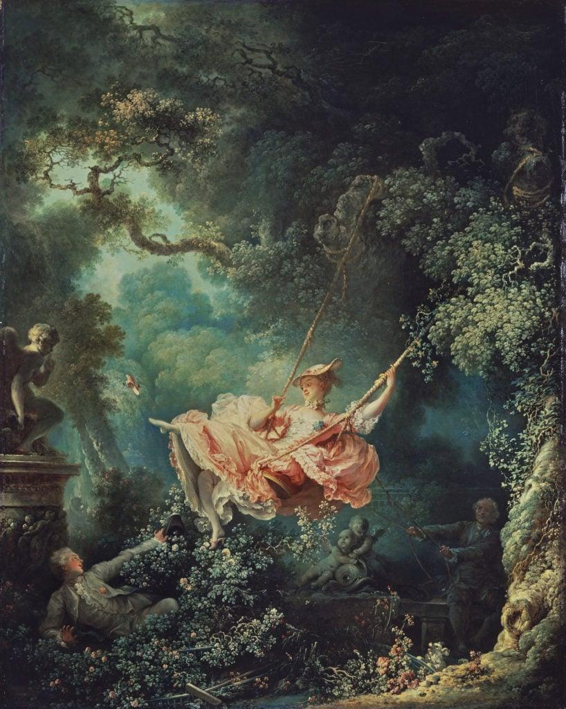 Jean-Honoré Fragonard, The Swing, 1767, Ekphrasis