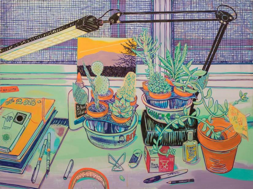 flowers on desk; Hope Gangloff; Vincent van Gogh revisited