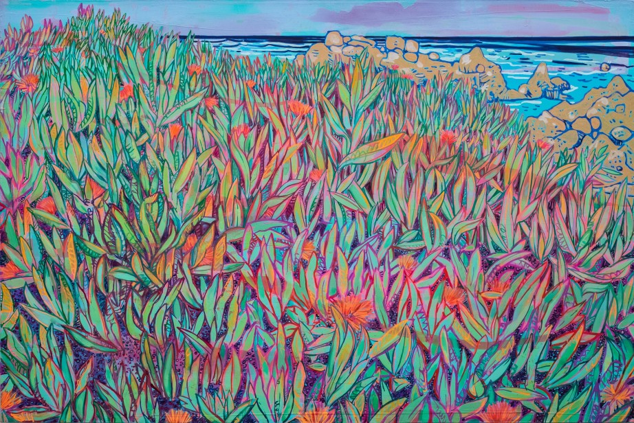 plants at seaside; Vincent van Gogh revisited