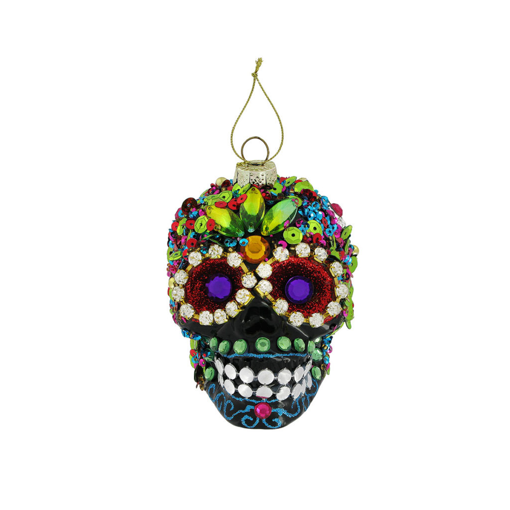 The British Museum, Bejeweled Skeleton Head Decoration; Christmas Gifts from Museums