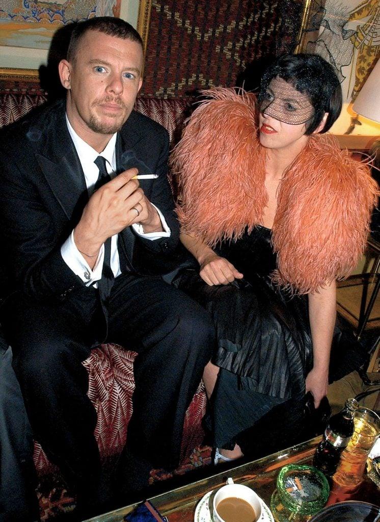 Alexander McQueen and Isabella Blow. Source: Vanity Fair.
