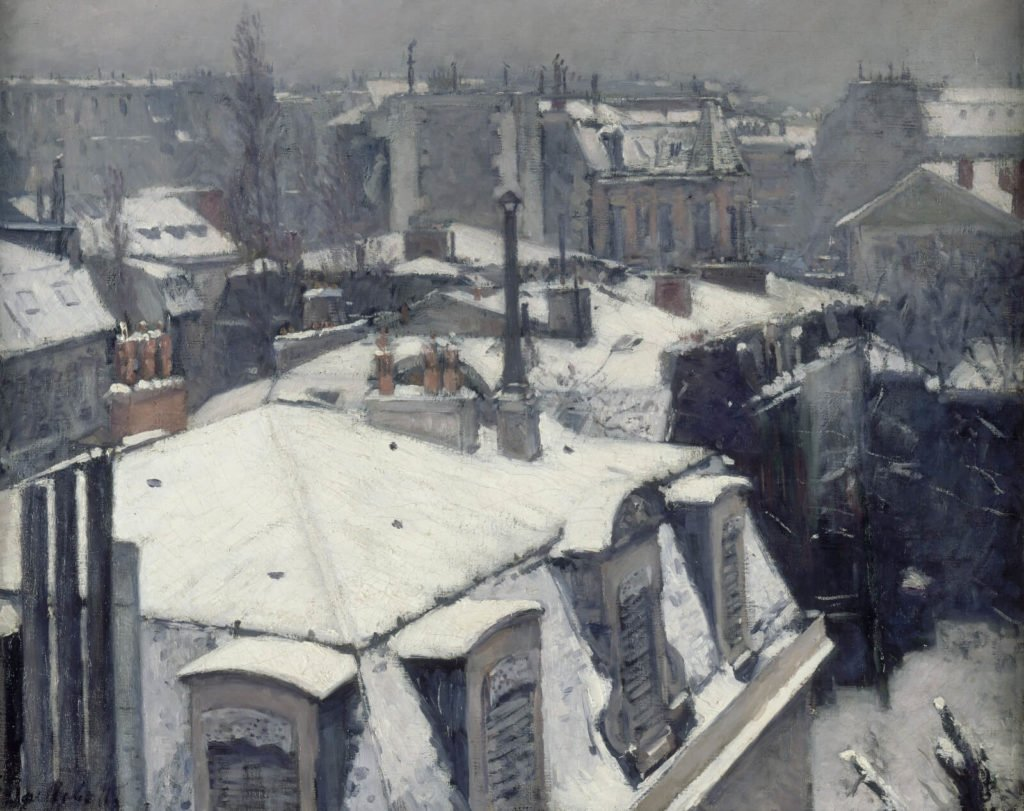 Gustave Caillebotte, Rooftops in the Snow, 1878, Musée d'Orsay, Paris.