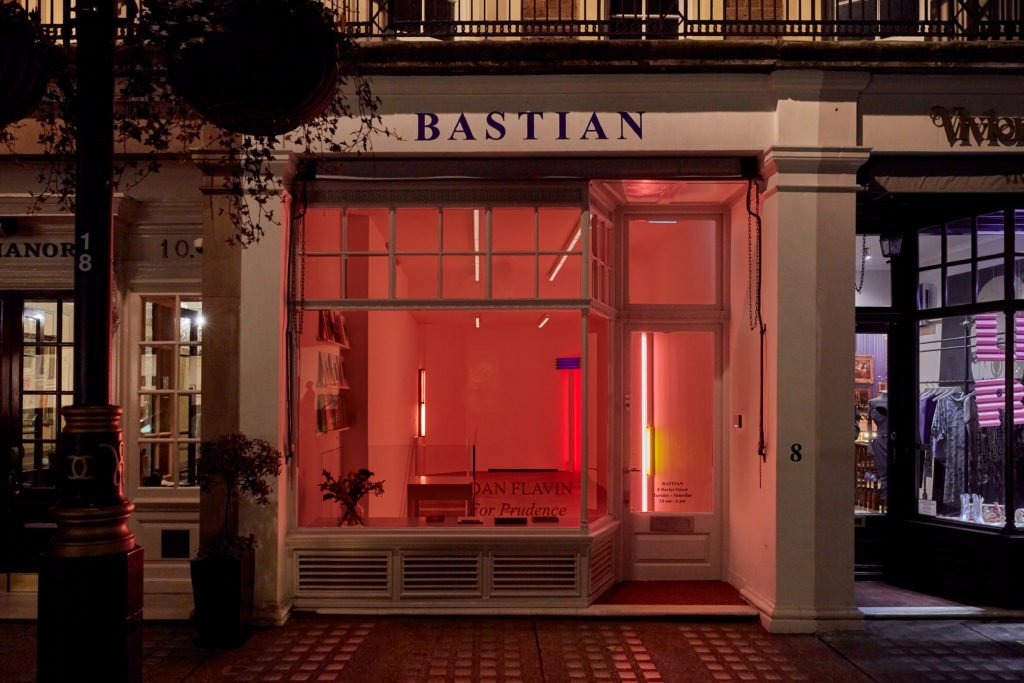 Installation view of Dan Flavin: For Prudence at BASTIAN, 22 November 2019-15 February 2020, London, UK. London Art Museums