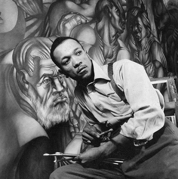 Charles White, 1943, photograph by Gordon Parks