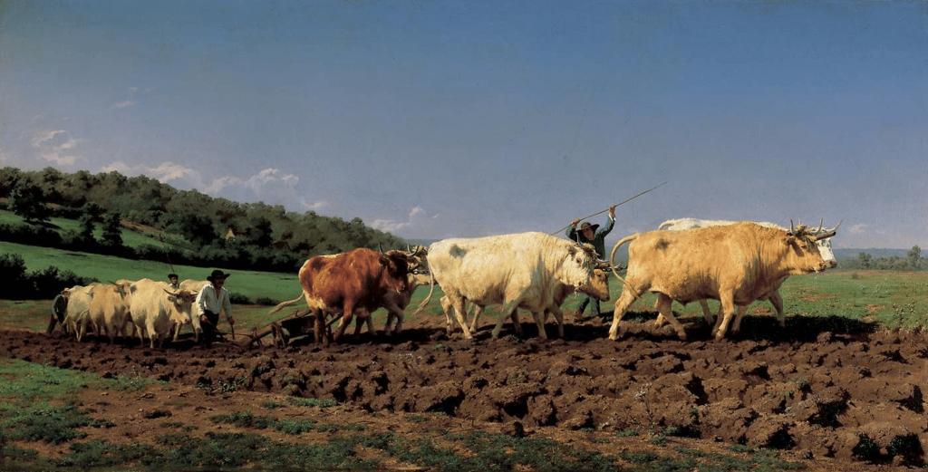 Rosa Bonheur, Plowing in the Nivernais