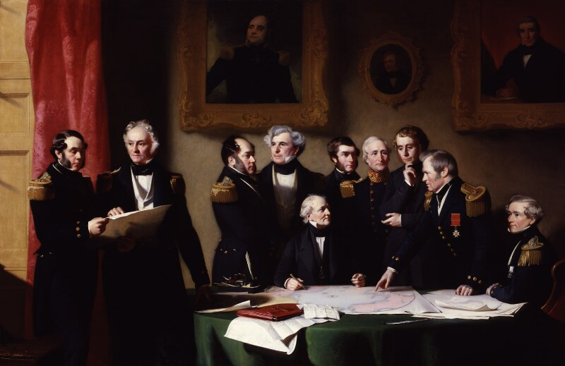 Stephen Pearce, The Arctic Council planning a search for Sir John Franklin, 1851, © National Portrait Gallery, London