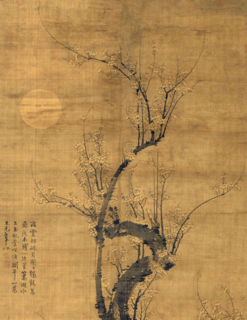 A Prunus in the Moonlight - fragment of the painting - Cleveland Museum of Art
