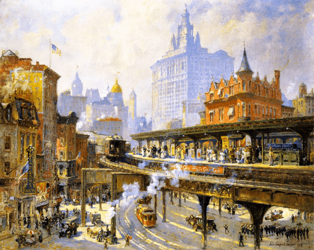 Chatham Square Station, New York by Colin Campbell Cooper