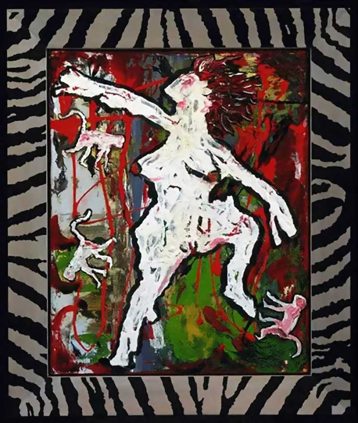David Bowie Paintings. David Bowie, Ancestor II, 1998, private collection
