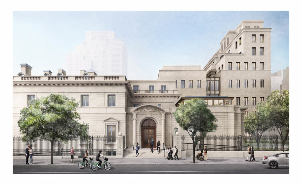 Frick Collection renovation exterior rendering