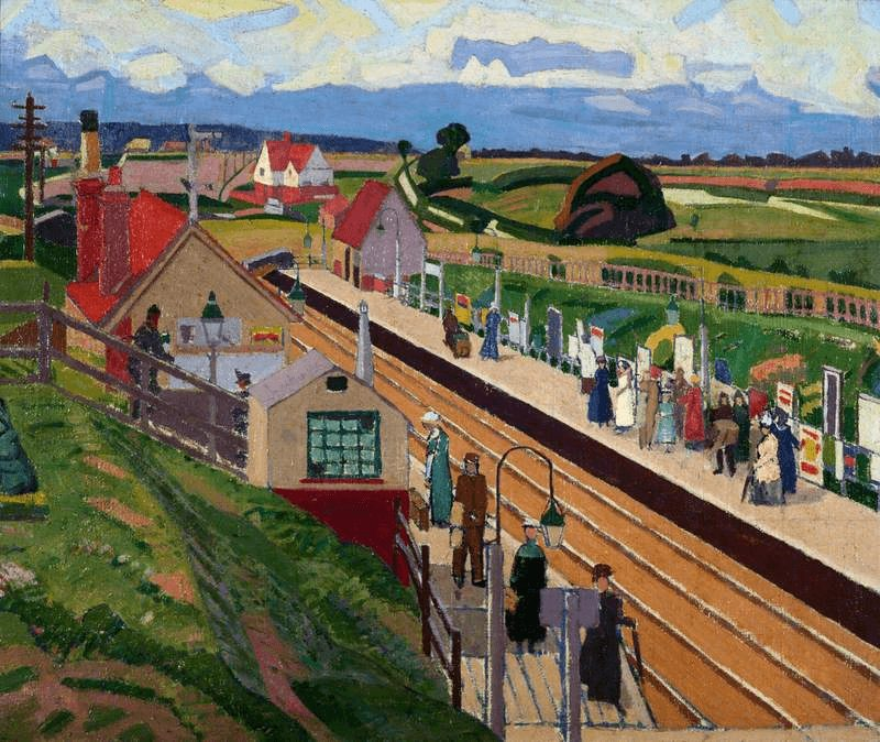 Letchworth Station by Spencer Gore