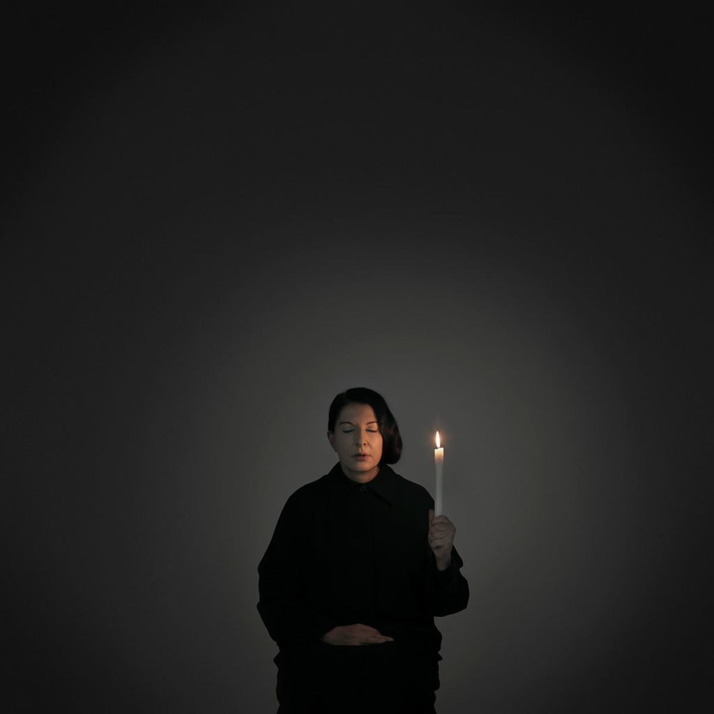 Marina Abramović, Artist Portrait with a Candle (A), from the series With Eyes Closed I see Happiness, 2012