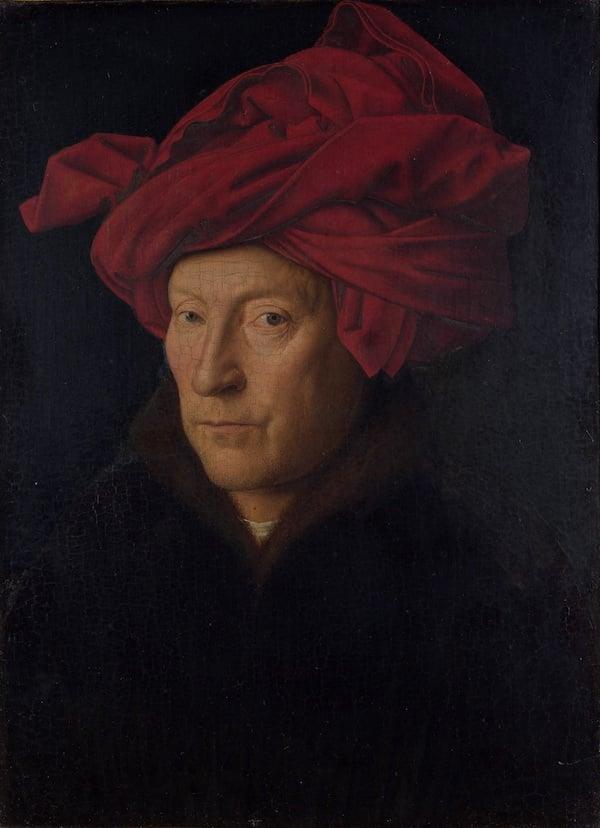 Jan van Eyck, Portrait of a Man (Self Portrait?), 1433. National Gallery, London