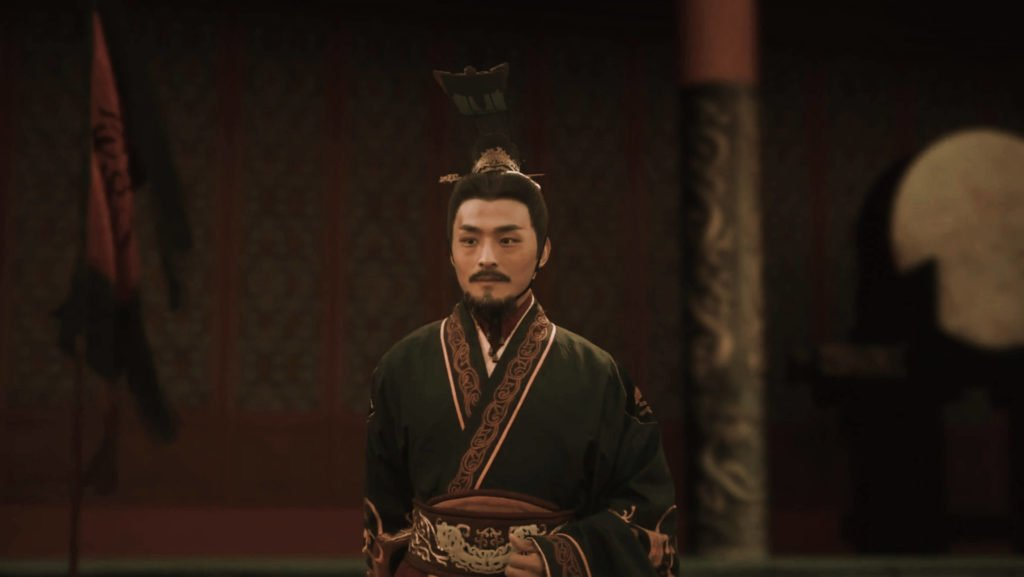 The Emperor Qin Shi Huang, the still frame from the series China's Dragon Emperor.