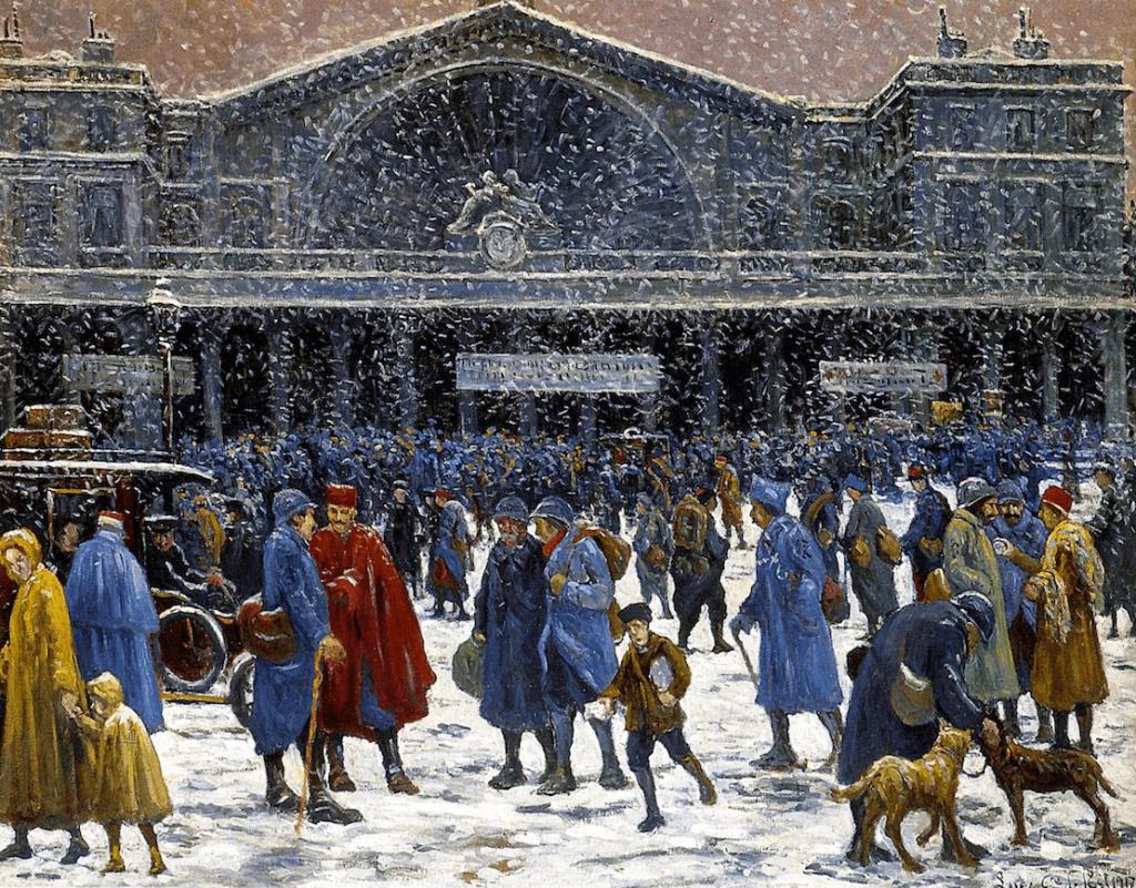 The Gare de l'Est in Snow by Maximilien Luce