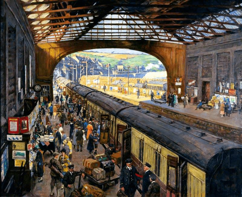 The Terminus, Penzance Station, Cornwall by Stanhope Alexander Forbes