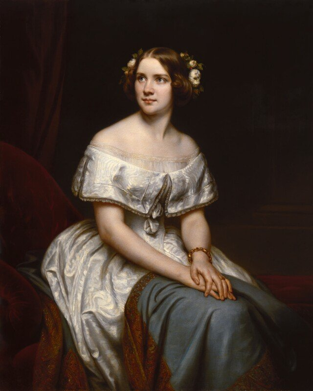 replica by Eduard Magnus, Jenny Lind, circa 1861, based on a work of 1846, © National Portrait Gallery, London - Around the World with the National Portrait Gallery - P.5 Europe