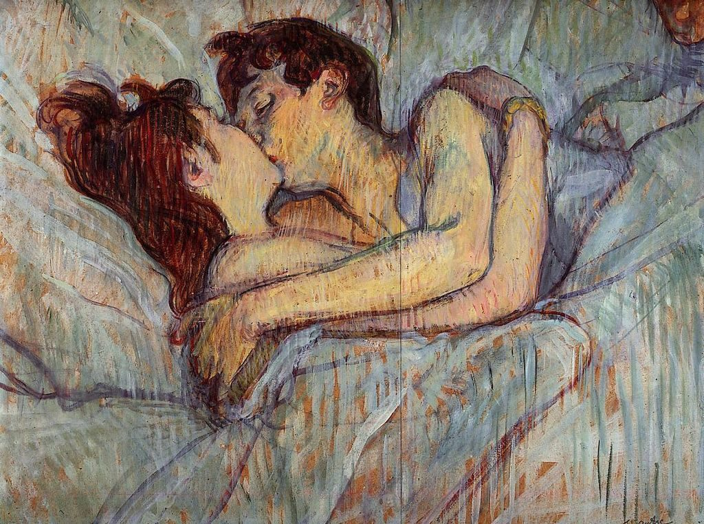 Henri Toulouse-Lautrec, In Bed The Kiss, 1892-93, private collection.