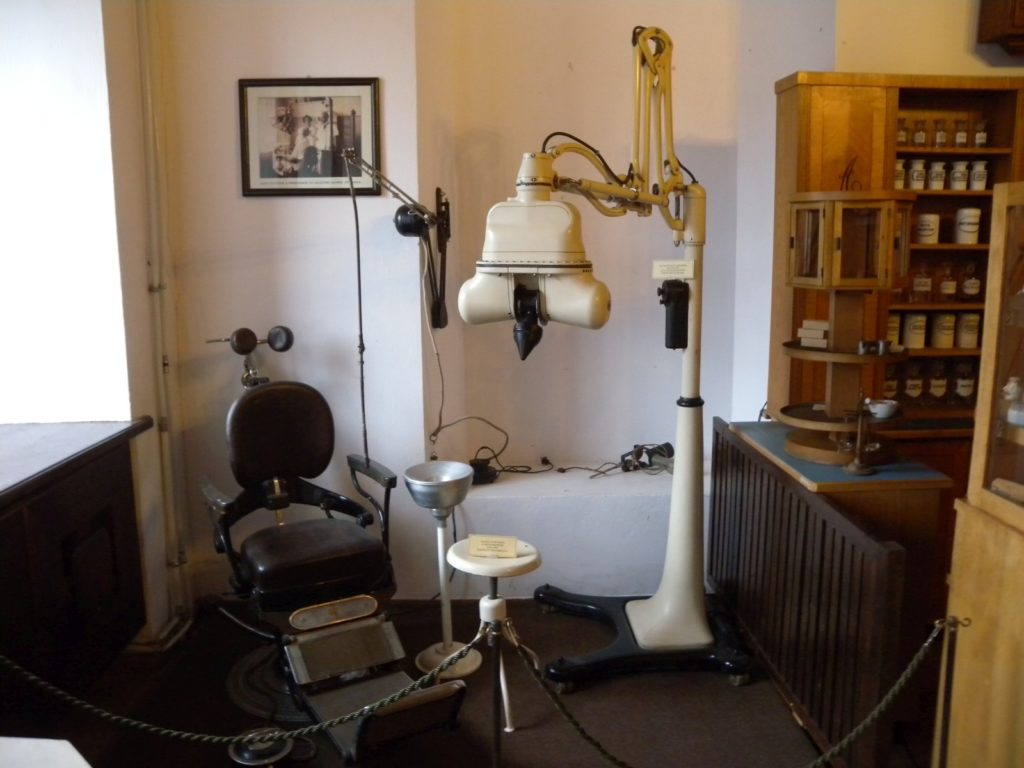 Dentist's studio in Museum of the History of Lithuanian Medicine and Pharmacy