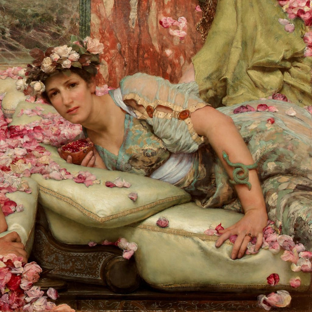 Sir Lawrence Alma-Tadema, The Roses of Heliogabalus, 1888, Private Collection. Enlarged Detail of a Guest.