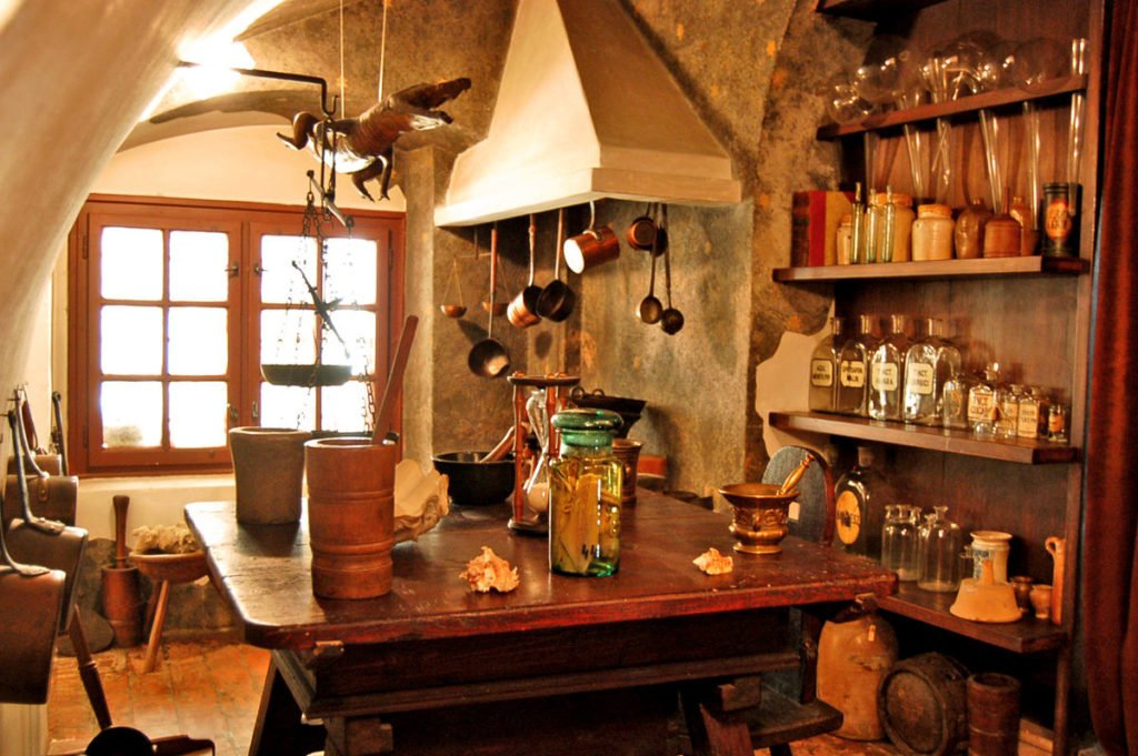 Pharmacist's laboratory in the Golden Eagle Pharmacy Museum