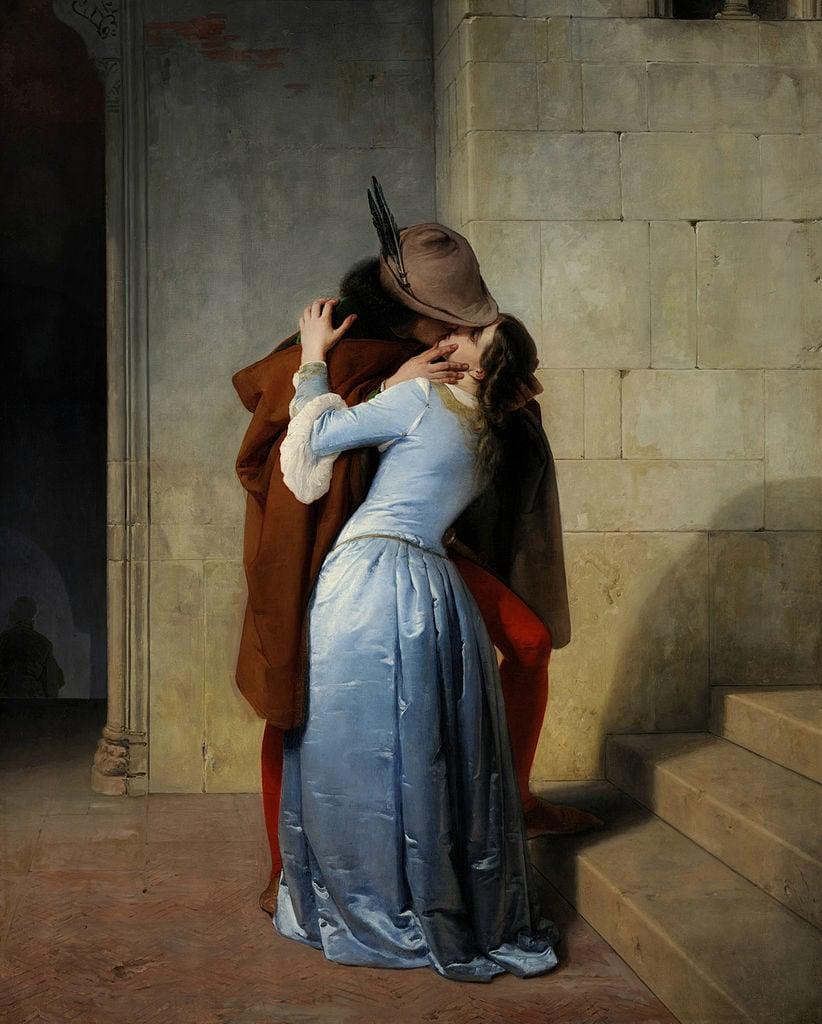 Francesco Hayez, The Kiss, 1859, Pinacoteca di Brera, Milan, Italy.