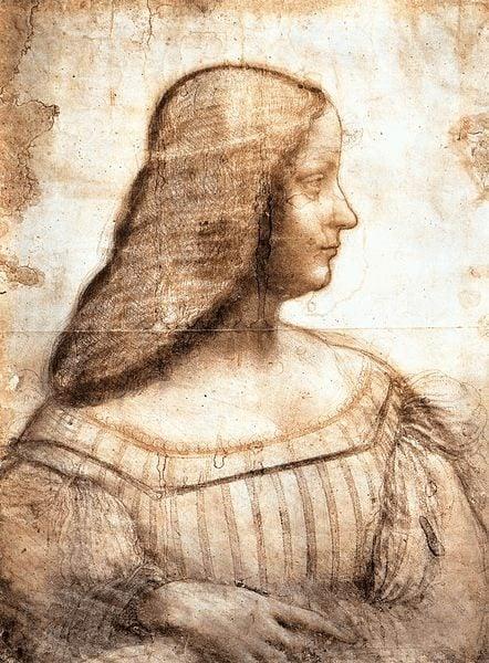 Female Art Patrons: Isabella d'Este by Leonardo da Vinci