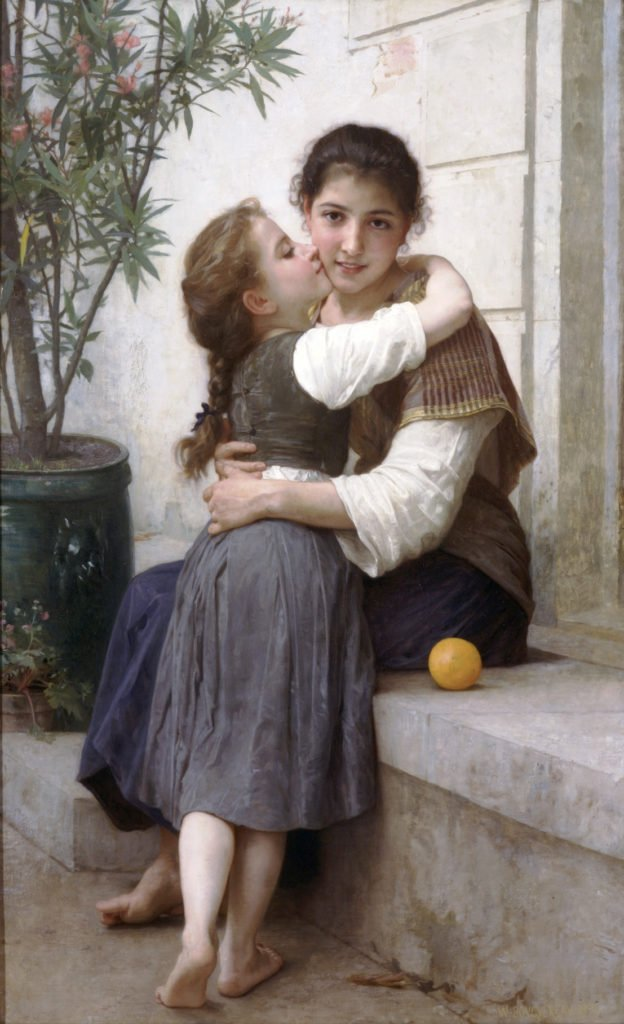 William Bouguereau, A Little Coaxing, 1890, private collection. Wikimedia Commons