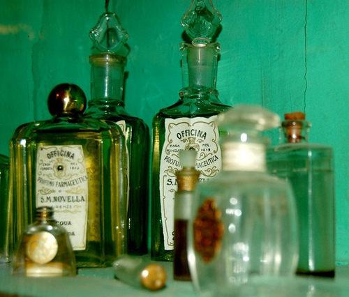 Apothecary jars from the Santa Maria Novella Pharmacy