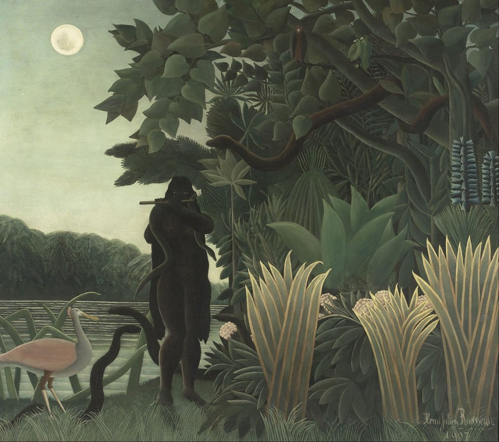 art relax Henri Rousseau, The Snake Charmer, 1907, Musée d'Orsay. Masterpieces to Calm Your Anxiety