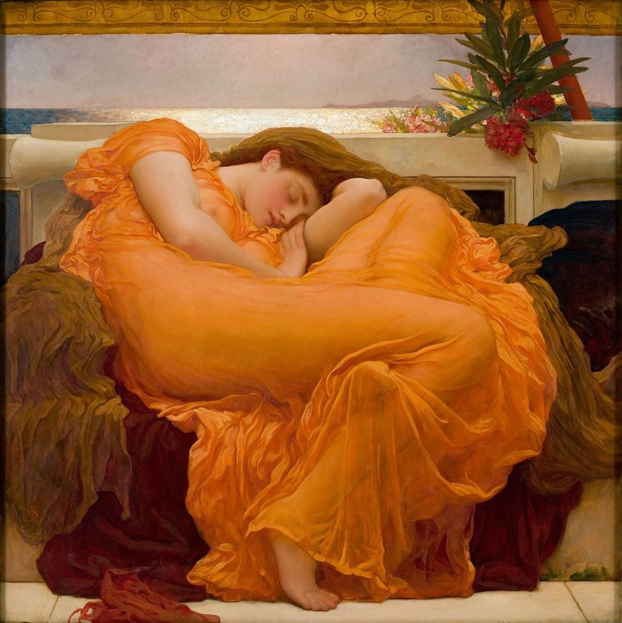 art relax Frederic Leighton, Flaming June, 1895 Museo de Arte de Ponce, Ponce, Puerto Rico; Masterpieces to Calm Your Anxiety