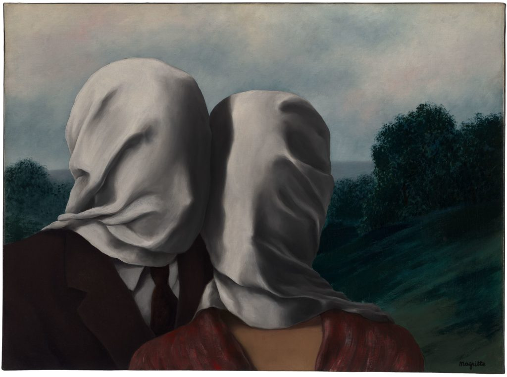 René Magritte Love René Magritte Lovers René Magritte, The Lovers I, 1928, National Gallery of Australia, Canberra