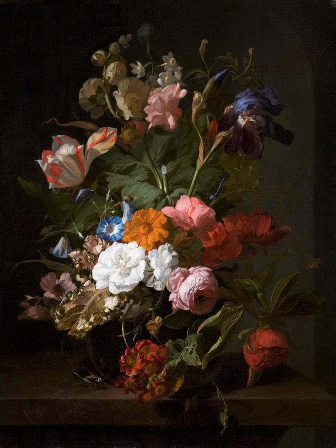 Rachel Ruysch, Vase with Flowers, 1700, Mauritshuis, Den Haag.