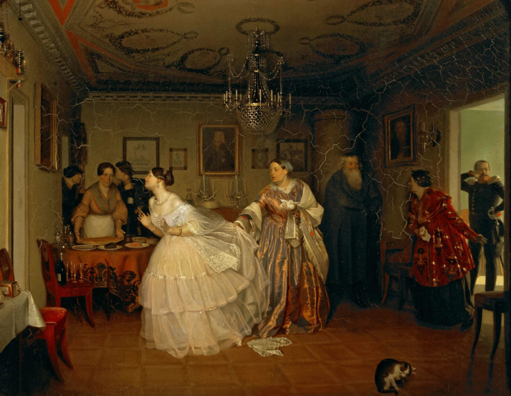 Pavel Fedotov, The Major's Marriage Proposal, 1848, State Tretyakov Gallery, Moscow.