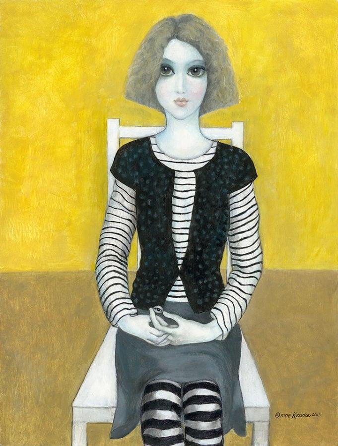 Margaret Keane, Observant Eyes, acrylic on board, 2013, Keane Eyes Gallery.