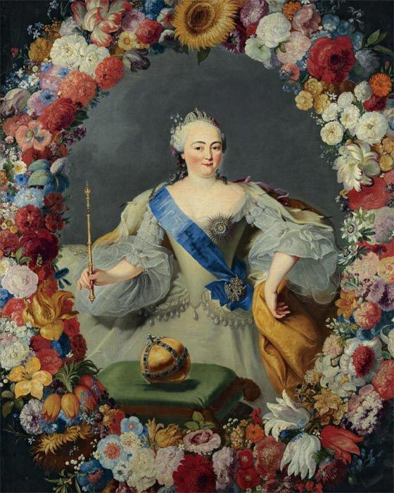 """George Prenner, Portrait of Elisabeth I of Russia, 1754. Russian empress Elisabeth I of Russia was known as a """"Government Venus"""" of Romanov dynasty.  Rococo Women Beauty Guide"""