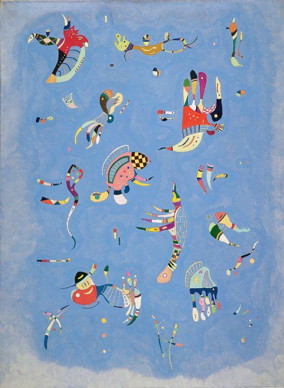 art relax Wassily Kandinsky, Sky Blue, 1940, Centre Pompidou, Paris.