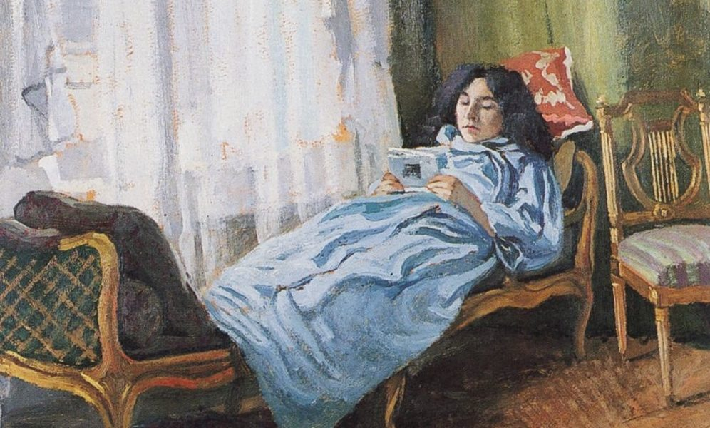 Felix Edouard Vallotton, Woman Lying Down and Reading, 1904