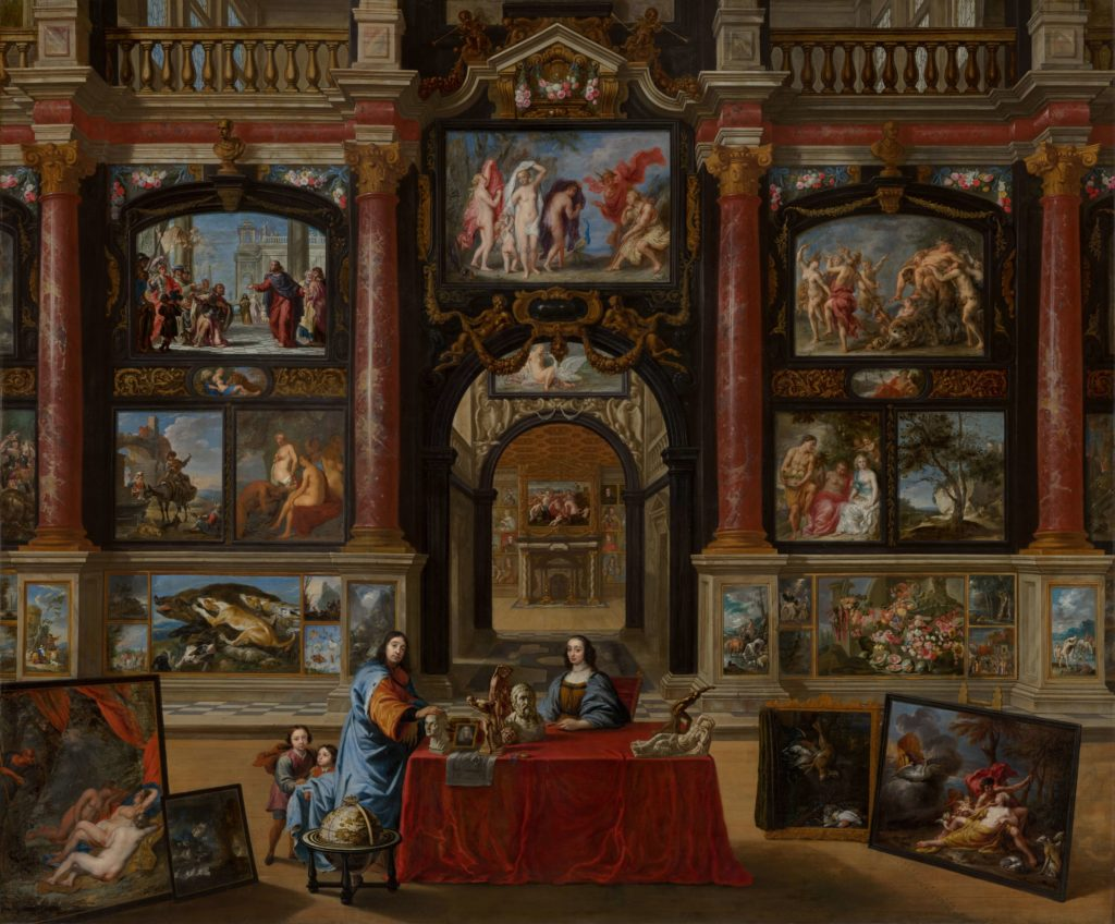 Interior with Figures in a Picture Gallery by Gonzales Coques