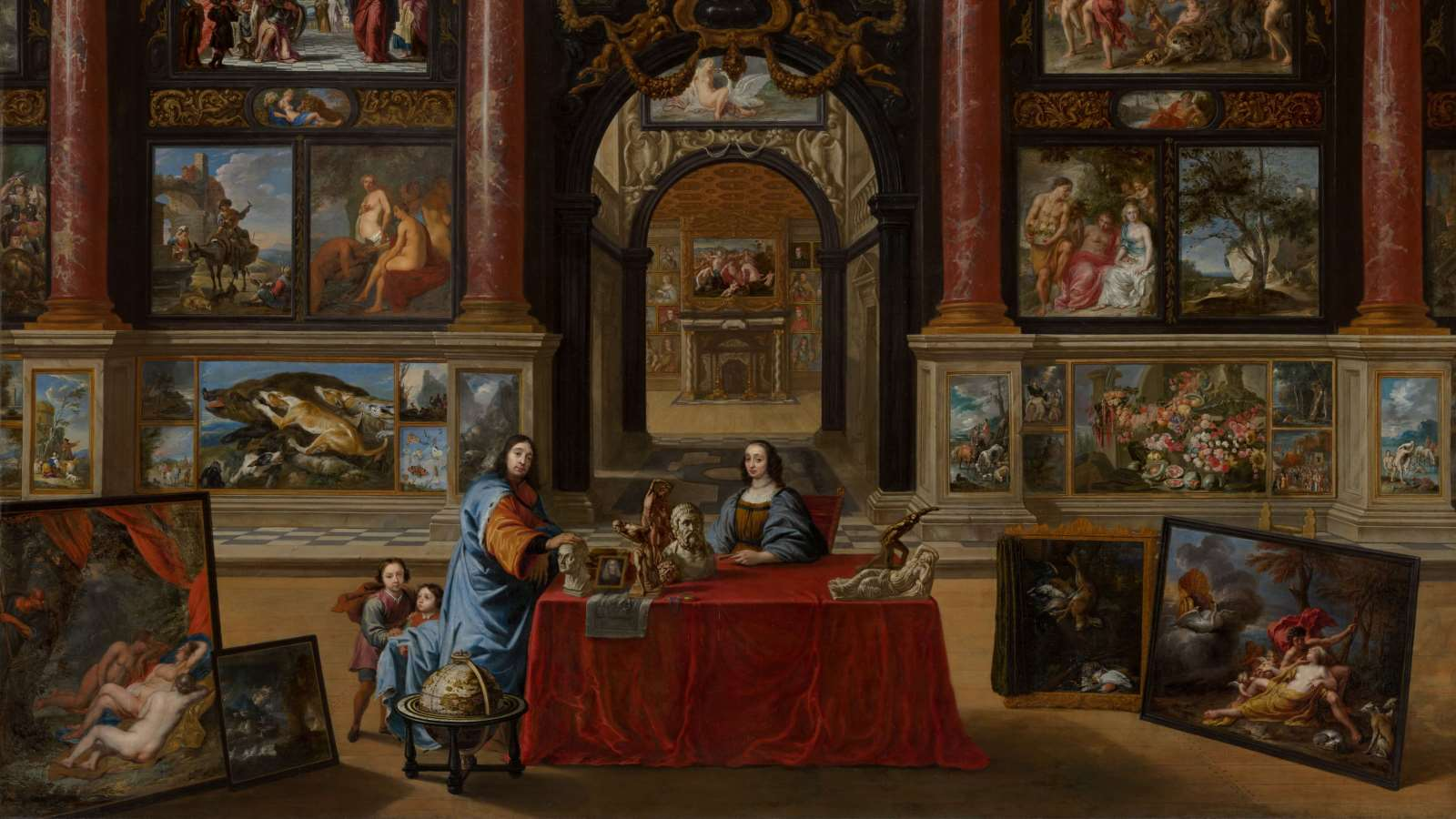 Interior with Figures in a Picture Gallery by Gonzales Coques cover