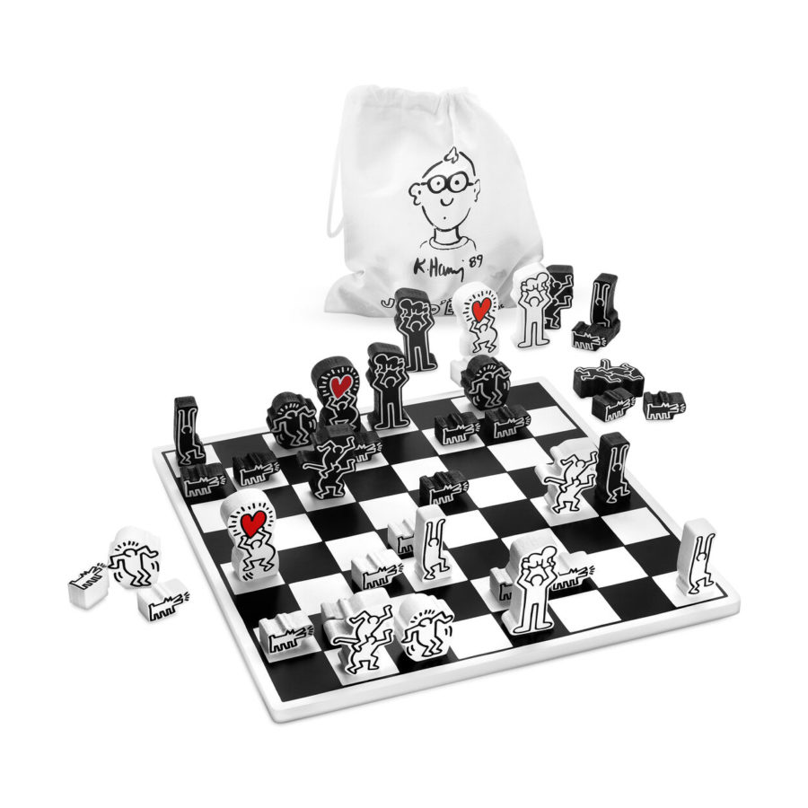 Keith Haring Chess Set, Museum of Modern Art, New York - Lockdown Entertainment Toolkit, games, board games
