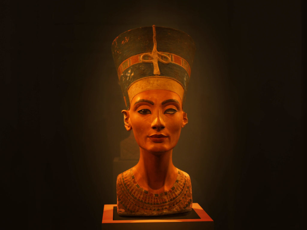 Nefertiti Bust created by the ancient sculptor Thutmose