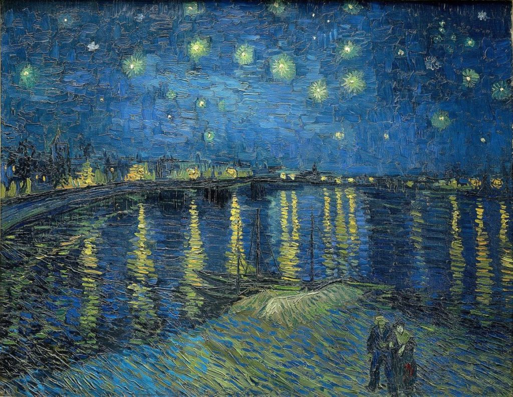 art relax Vincent van Gogh, Starry Night Over the Rhône, 1888, Musée d'Orsay; Masterpieces to Calm Your Anxiety