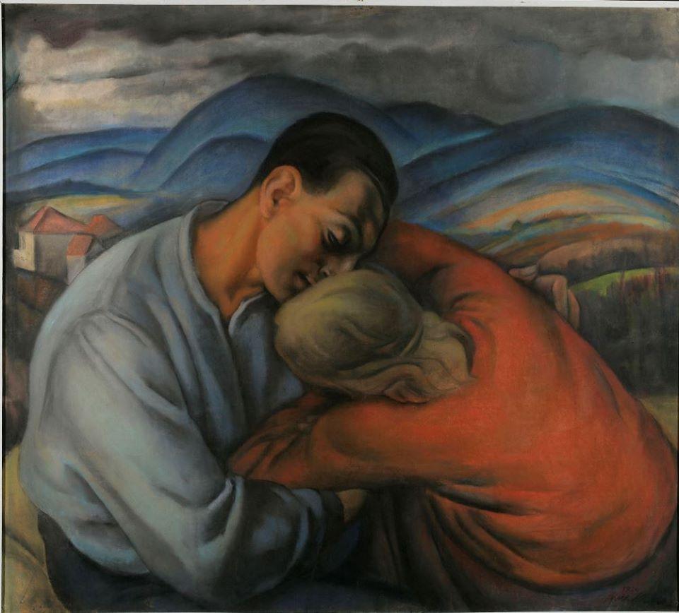 female artist Anka Krizmanić, Lovers, 1926