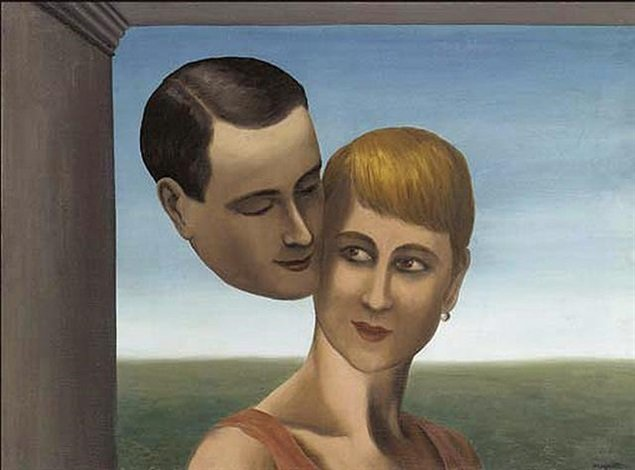 René Magritte Love René Magritte Lovers René Magritte, The Lovers III, 1928, private collection