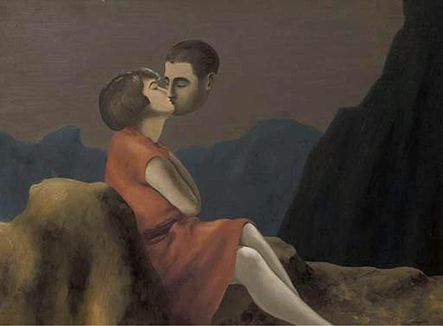René Magritte Lovers