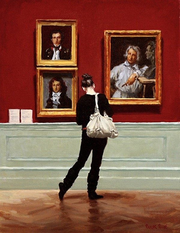 painting by Pauline Roche, Sidestep at the Portraits; Art Guide to Quarantine