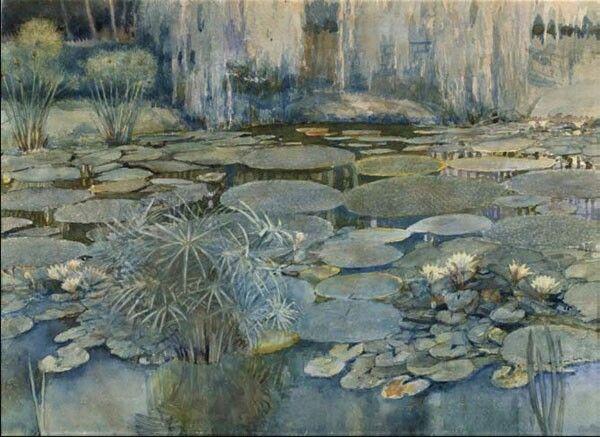 Slava Raškaj, Water Lilies in the Botanical Garden II, 1899